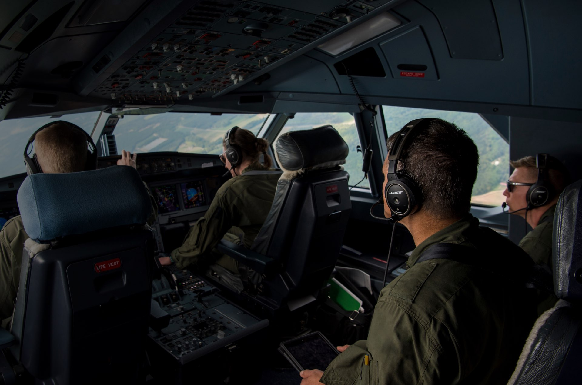 A20 Military DVIDS Team In Aircraft